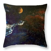 The Search For Earth Throw Pillow by Murphy Elliott