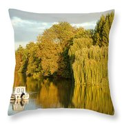 The Seine At Bonnieres Throw Pillow by Olivier Le Queinec