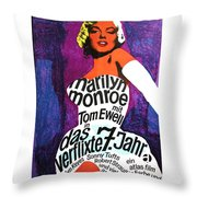 The Seven Year Itch German Throw Pillow by Georgia Fowler