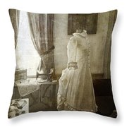 The Sewing Room Throw Pillow by Cindi Ressler