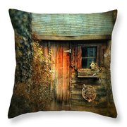 The Shed Throw Pillow by Jessica Jenney