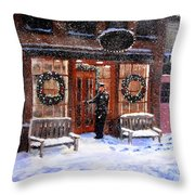 The Shiver and Shake Watch on Christmas Eve Throw Pillow by Jack Skinner