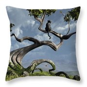 The Sitting Tree Throw Pillow by Cynthia Decker