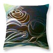 The Slumber-detailed Throw Pillow by Juliann Sweet