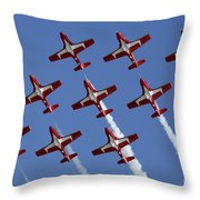 The Snowbirds Keeping It Tight Throw Pillow by Bob Christopher