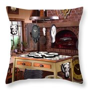 The Soft Clock Shop 2 Throw Pillow by Mike McGlothlen