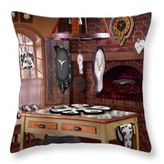 The Soft Clock Shop 3 Throw Pillow by Mike McGlothlen