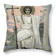 The Son Of God   The Word Of God Throw Pillow by Victor Mikhailovich Vasnetsov