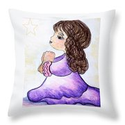 The Star Still Shines Throw Pillow by Eloise Schneider