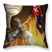 The Steadfast Tin Soldier ...the Envy... Throw Pillow by Alessandro Della Pietra