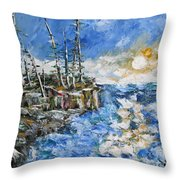 The Storm Throw Pillow by Beverly Livingstone