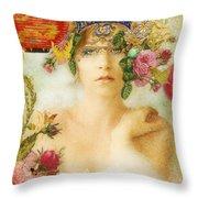 The Summer Queen Throw Pillow by Aimee Stewart