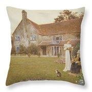 The Sundial Throw Pillow by Thomas James Lloyd