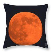 The Super Moon Throw Pillow by Marcia Lee Jones