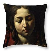 The Supper At Emmaus Throw Pillow by Michelangelo Merisi da Caravaggio