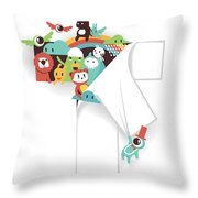 The T in the Team Throw Pillow by Budi Kwan