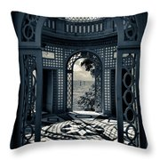 The Tea House Vizcaya Museum And Gardens Biscayne Bay Miami Florida Throw Pillow by Amy Cicconi