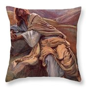 The Temptation Of Christ Throw Pillow by Harold Copping