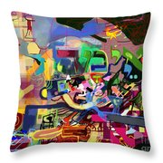 the Torah is aquired with awe 5 Throw Pillow by David Baruch Wolk