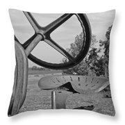 The Tractor Seat Throw Pillow by Heather Allen