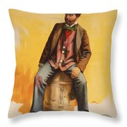 The Tramp Balladist Throw Pillow by Aged Pixel