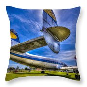 The Transatlantic Queen Throw Pillow by Marvin Spates