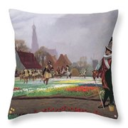 The Tulip Folly Throw Pillow by Jean Leon Gerome