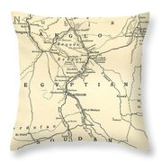 The Upper Nile Throw Pillow by English School