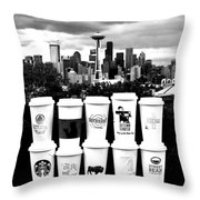 The Usual Seattle Suspects Throw Pillow by Benjamin Yeager