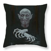 The Vampire Throw Pillow by Wave