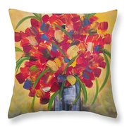 The Vase Throw Pillow by Molly Roberts