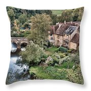 The Village Throw Pillow by Olivier Le Queinec