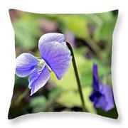 The Violet Throw Pillow by Susan Leggett