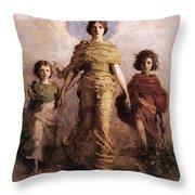 The Virgin Throw Pillow by Abbott Handerson Thayer