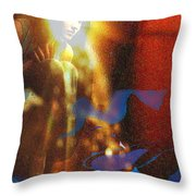 The Vision Throw Pillow by Seth Weaver