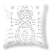 The Visitor Throw Pillow by DB Artist