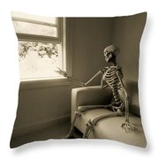 The Wait Throw Pillow by Diane Diederich