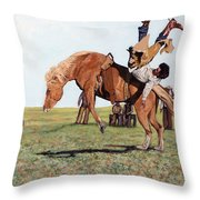 The Waiting Line Throw Pillow by Tom Roderick