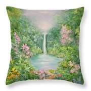 The Waterfall Throw Pillow by Hannibal Mane