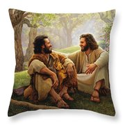 The Way of Joy Throw Pillow by Greg Olsen