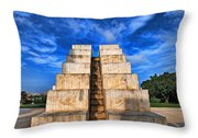 The White City Throw Pillow by Ron Shoshani