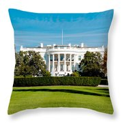 The White House Throw Pillow by Greg Fortier