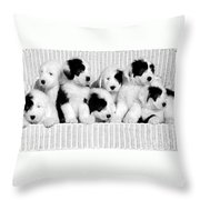 The Whole Gang Throw Pillow by Kathleen Struckle