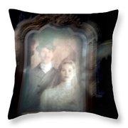 The Widow Throw Pillow by Ryan Crane
