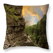 The Winding Trail Throw Pillow by Jessica Jenney