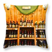 The Wine Cellar Throw Pillow by Frozen in Time Fine Art Photography