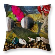 The World Is So Wonderful A Must See Popart Throw Pillow by Pepita Selles