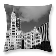 The Wrigley Building Chicago Throw Pillow by Christine Till