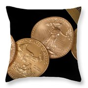 There's Gold Then There's Gold Throw Pillow by David and Carol Kelly