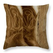 These Boots Were Made For Throw Pillow by Cheryl Young